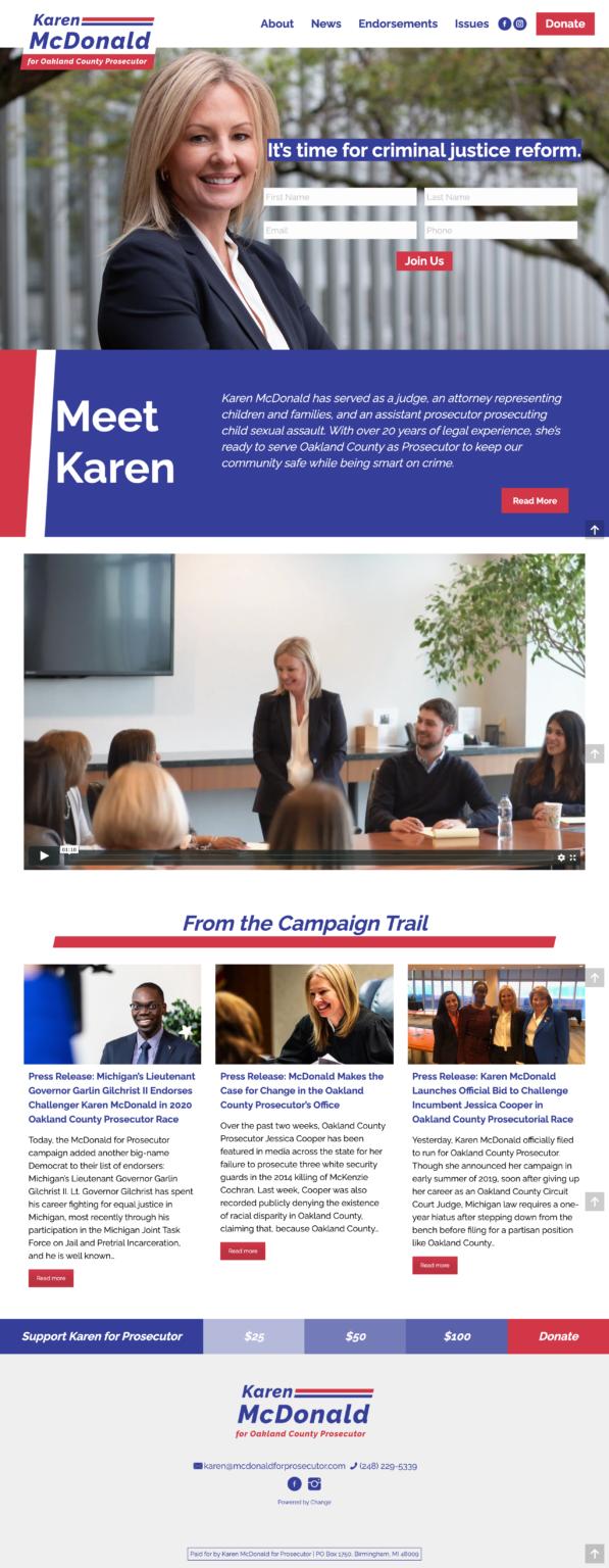 karen mcdonald for prosecutor website
